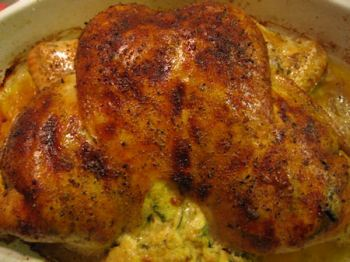 Split Stuffed Baked Chicken